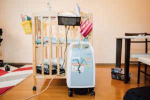 自宅での医療機器の様子